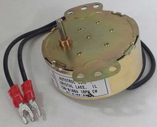 Acroprint 125, 150, and 200 Time Clock Motor.  1 rpm, CW rotation.  Click to enlarge