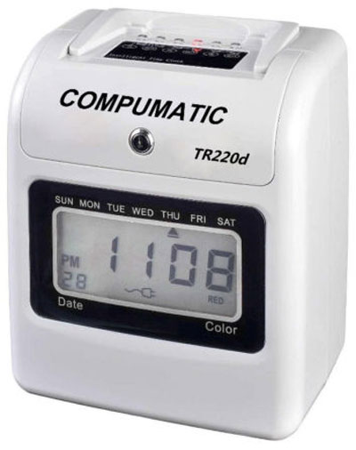 COMPUMATIC TR220d ELECTRONIC TIME CLOCK