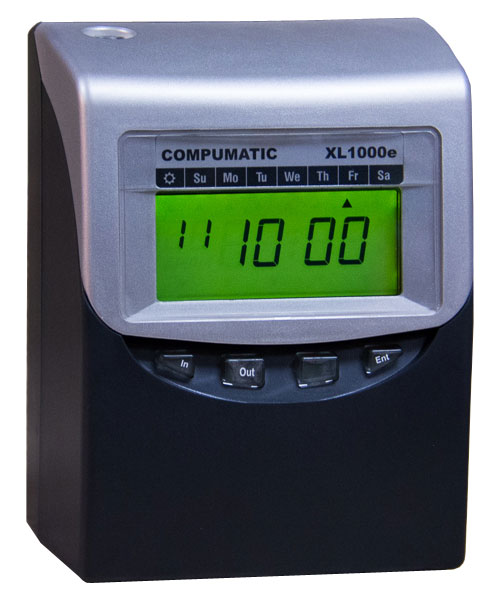 compumatic xl1000e computerized calculating time clock