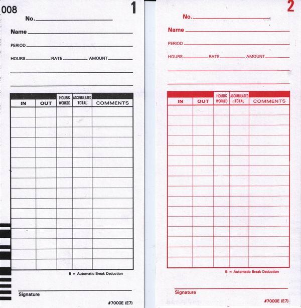 e7 time cards for lathem 7000e and lathem 7500e calculating time clocks 400 cards - Time Card Clock