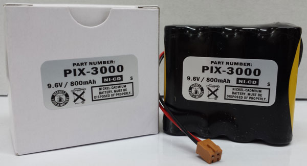 Ni-Cad Battery Replacement for Amano MJR-7000 MJR-8000 Time Clock ...
