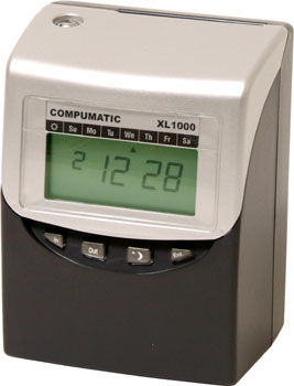 Compumatic XL1000 Computerized Calculating Time Recorder
