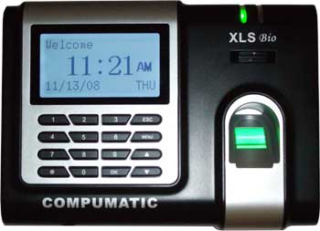 COMPUMATIC XLS bio BIOMETRIC FINGERPRINT and PIN ENTRY TIME CLOCK SYSTEM